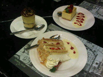 tiramisu, strawberry & cream cake, cheese cake